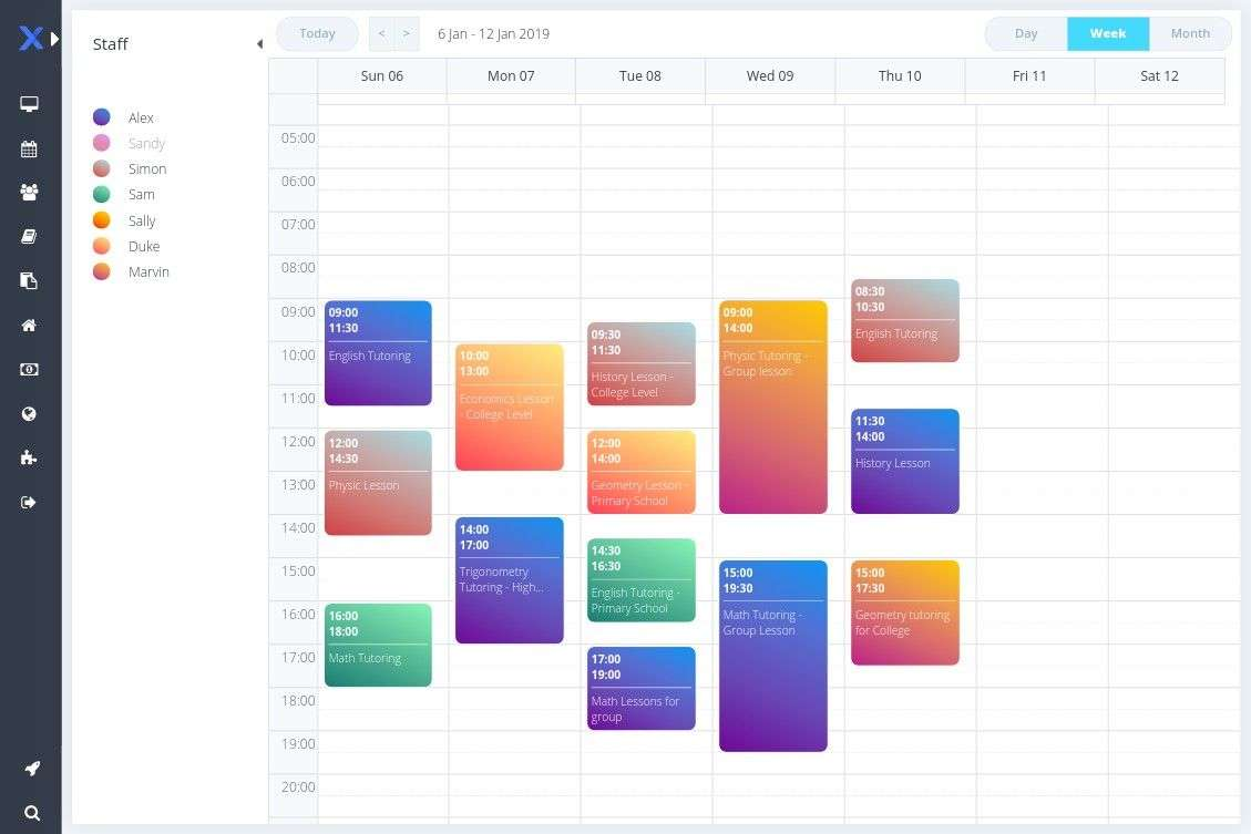 Schedule your classes easily