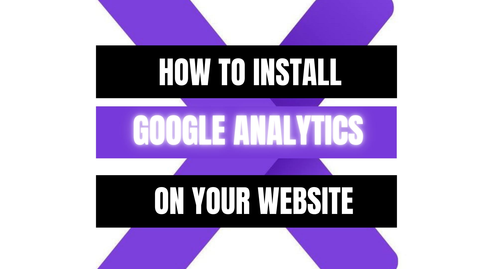 Peekaboox - How to Install Google Analytics on Your Site