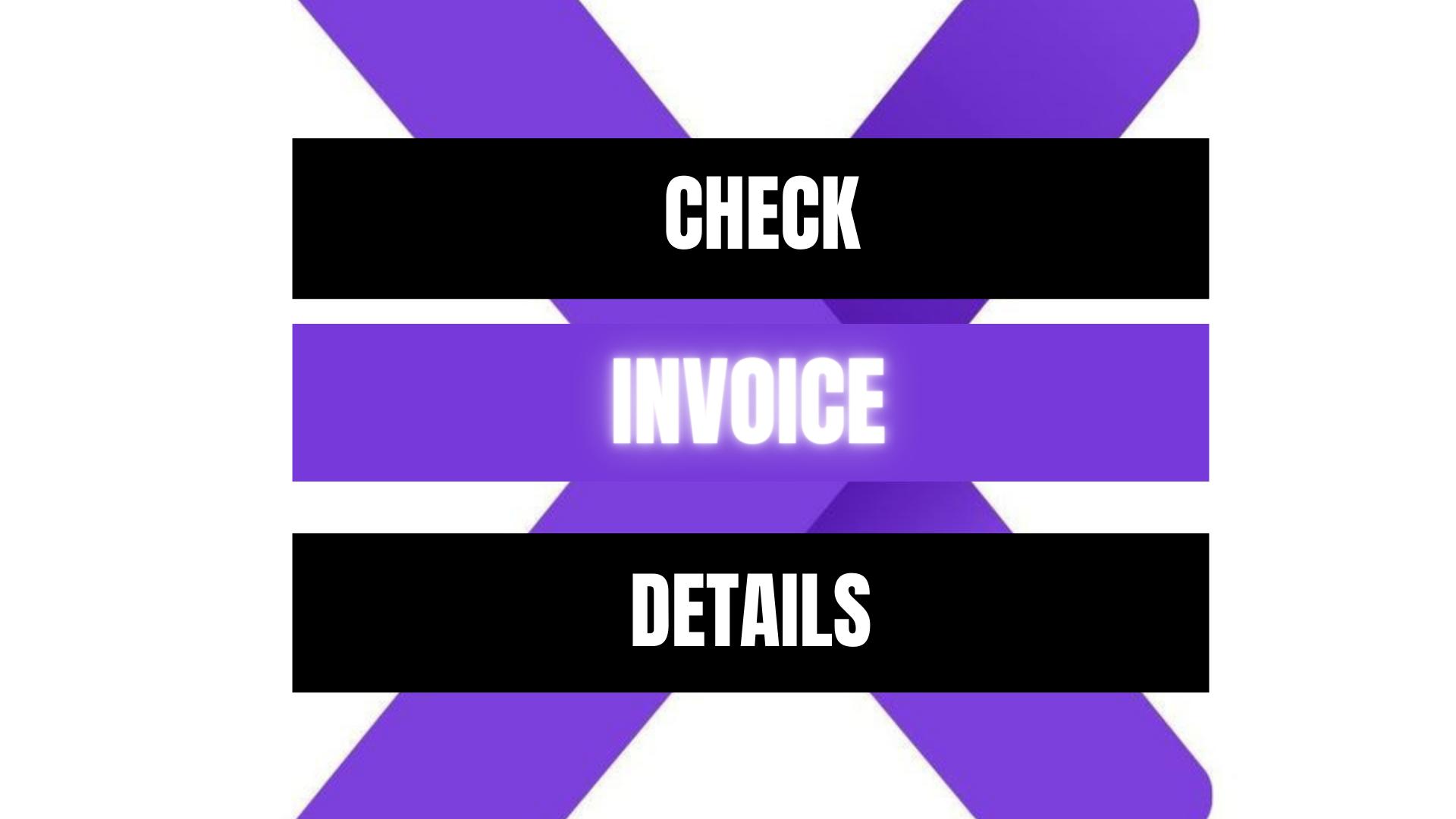 Peekaboox - Check Invoice Details