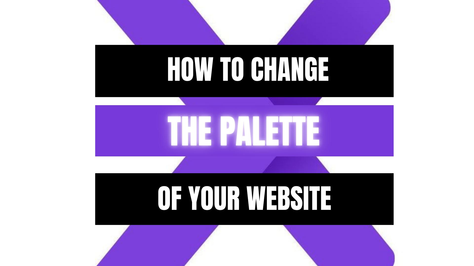 Peekaboox - Website color palette