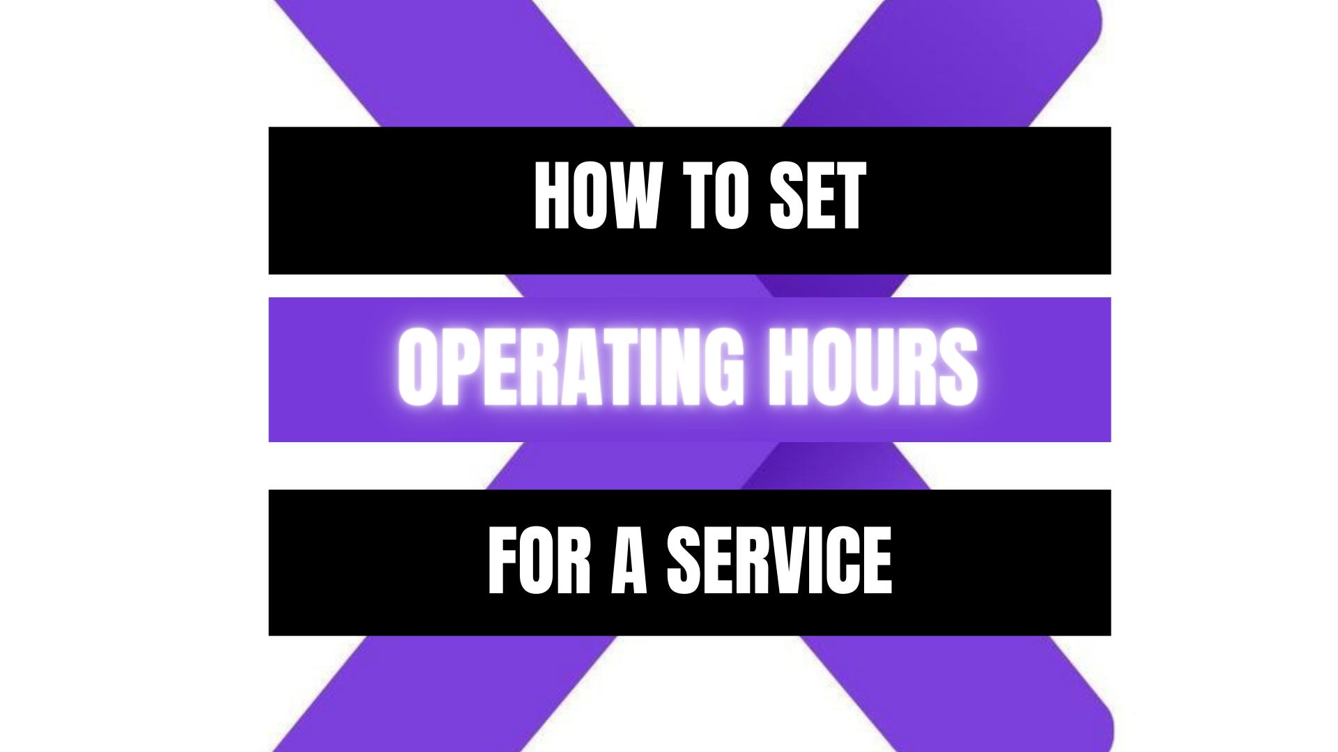 Peekaboox - Service Operating Hours